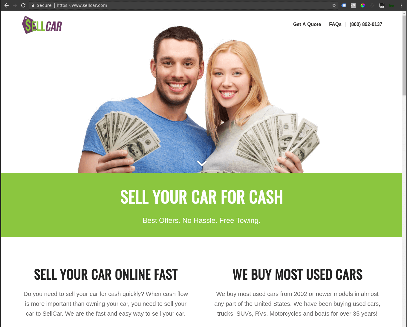 Sell Car Website Design