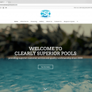 Clearly Superior Pools Website Design