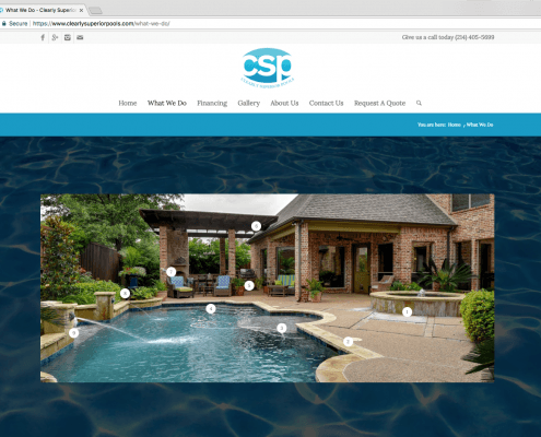 Clearly Superior Pools Website Design About Page